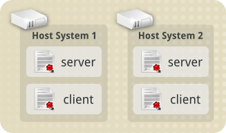 host1 and host2 with both Client and Server certificates