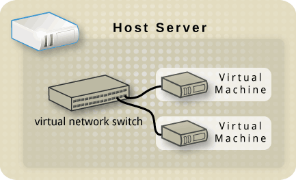 Host with a virtual network switch and two guests.png